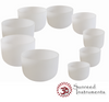 9 Bowl Heaven and Earth Premium Frosted Crystal Singing Bowl Set