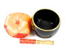 """Black G#    Note Japanese Style Rin Gong Singing Bowl 6"""" +30 cents  66000096"""