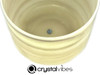 """8"""" 432Hz Perfect Pitch D#  Note Amethyst/Citrine Fusion Opaque Crystal Singing Bowl -35 cents  11001339"""