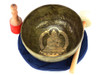 """11"""" G/D Note Etched Golden Buddha Himalayan Singing Bowl #g22300120"""