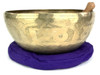 "13"" F#/D Note Engraved Himalayan Singing Bowl #f34450420"