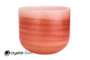 """8"""" 432 Hz Perfect Pitch B Note Carnelian Empyrean Crystal Singing Bowl -30 cents  11001601"""