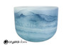 """8"""" 528Hz C Note Lapis over Turquoise Fusion Empyrean Crystal Singing Bowl +15 cents  11001720"""