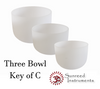 3 Bowl Key Of C Harmonic Chord Crystal Singing Bowl Set