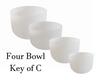 4 Bowl Key Of C Harmonic Chord Crystal Singing Bowl Set