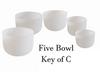 5 Bowl Key Of C Harmonic Chord Crystal Singing Bowl Set