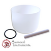 """14"""" A  and 14""""A# 9hz Alpha Binaural Beat Frosted Singing Bowl Set"""