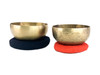 """6.5-7.75"""" Perfect Fourth 2-Note Himalayan Singing Bowl -alayanset190 cents"""