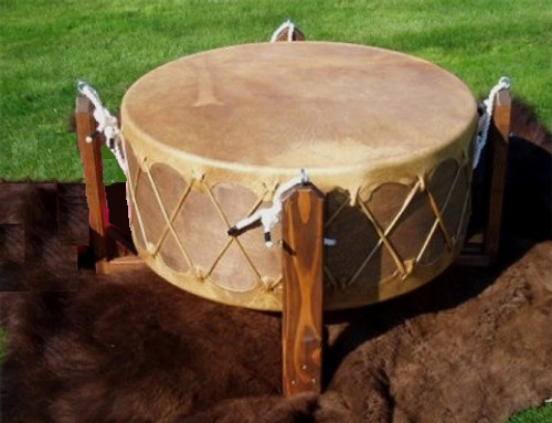 Sunreed's Pow Wow Drum with Buffalo Hide