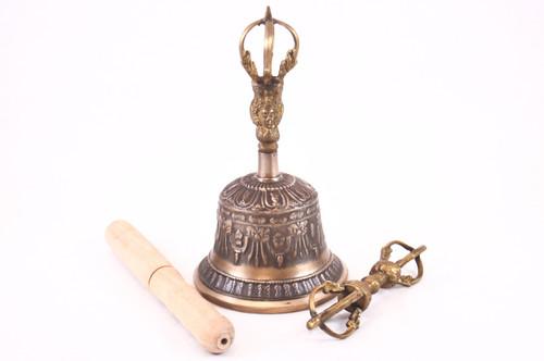 Giant Buddhist Sacred Spiritual Tibetan Bell And Dorje #Bl6
