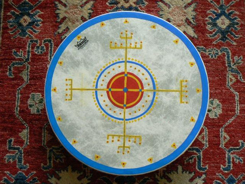 Sami Medicine Cross Painting
