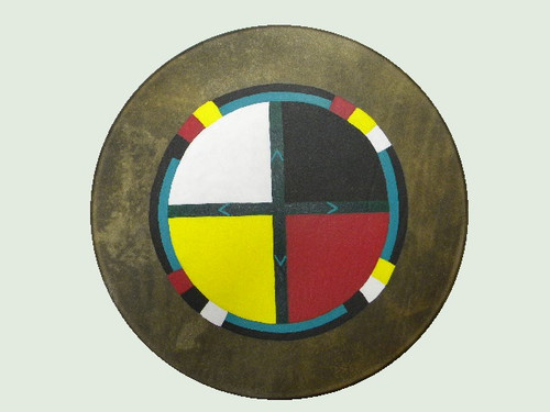 Painted Four Directions Drum