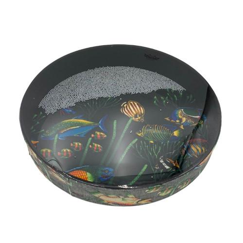 REMO Vegan Ocean Wave Drum Fish Design