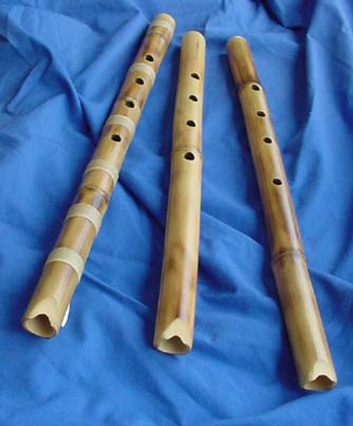Non-Root Shakuhachi, Alto size, one with bindings