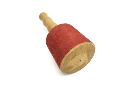 ~ Giant Wood Maroon Suede Singing Bowl Striker Tool ~ #Tl80