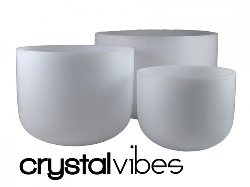 """Perfect Pitch Neodymium F Note Crystal Singing Bowl 10"""" +10 cents"""