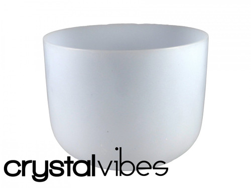 """Neodymium D#  Note Crystal Singing Bowl 8"""" -45 cents"""