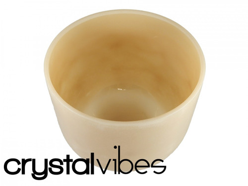 """Cerium F#  Note Crystal Singing Bowl 10"""" -40 cents  22000012"""