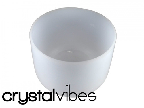 "Neodymium A#  Note Crystal Singing Bowl 9"" -40 cents  21000042"