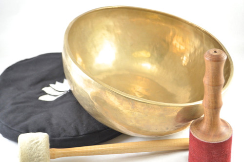 "13"" F#/D Note Himalayan Singing Bowl #f33700118"