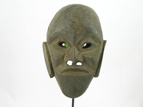 Primitive Tibetan Deity Mask Hand Carved #M677