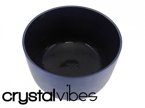 "Cobalt F Note Crystal Singing Bowl 10"" +30 cents  35000018"