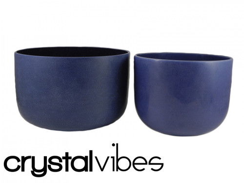 "Perfect Pitch Cobalt F Note Crystal Singing Bowl 12"" -10 cents  35000024"
