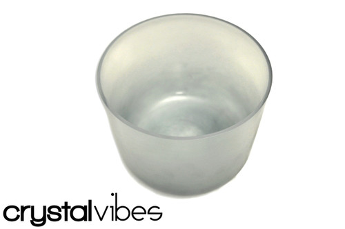 """8"""" D Note Blue Tourmaline Fusion Crystal Singing Bowl -45 cents  11000549"""