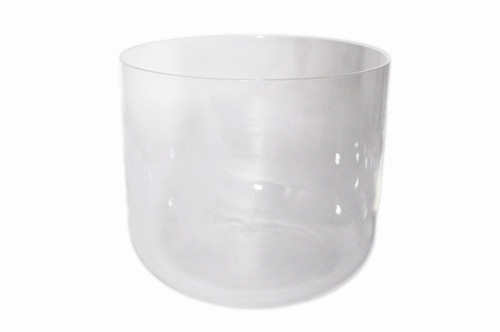 "Clear F#  Note Quartz Crystal Singing Bowl 11"" -15 cents  33000368"