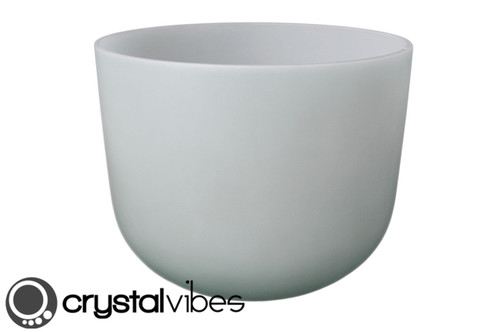 """Perfect Pitch 10"""" F Note Apophyllite Fusion Crystal Singing Bowl +5 cents  11000587"""
