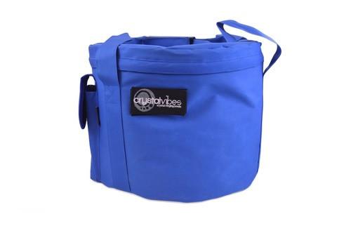 "Large Blue Singing Bowl Carrying Case 13-16"""