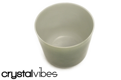 432 Hz 7'' B Note Malachite Opaque Fusion Crystal Singing Bowl -25 cents  11000644