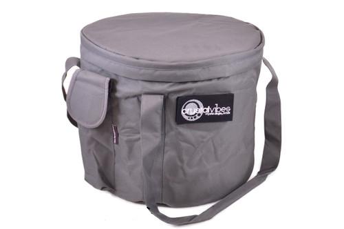 "Xtra Large Gray Singing Bowl Carrying Case 17-20"""