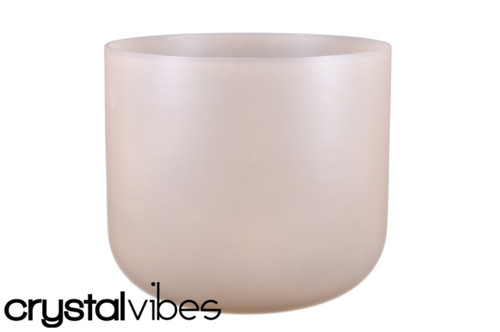 """Perfect Pitch 8"""" A Note Smokey Quartz Fusion Translucent Crystal Singing Bowl +0 cents  11000734"""
