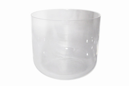 "Clear Quartz D#    Note Crystal Singing Bowl 11"" -20 cents  33000874"