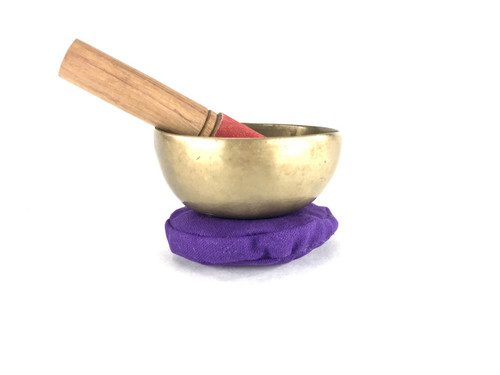 """4.25"""" A#/E Note Antique Himalayan Singing Bowl #a2700118"""