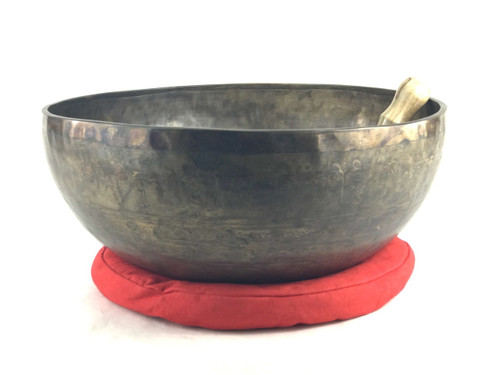 "16.25"" C/G# Note Dark Etched Himalayan Singing Bowl #c61900218"