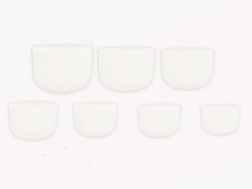 "Perfect Pitch 7 Note Harmonic Scale Empyrean Crystal Singing Bowl Set 7pc 8-14"" #set355"
