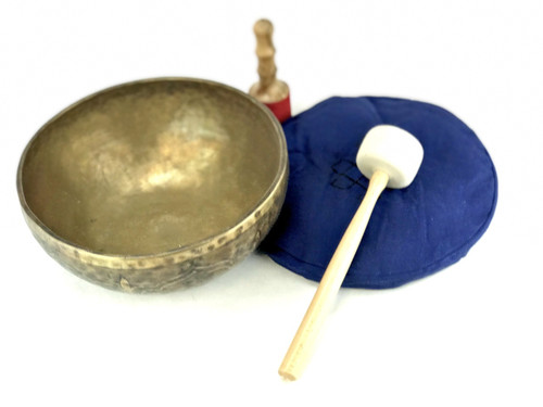 """11.75"""" G#/E Note Etched Himalayan Singing Bowl #g28960618"""