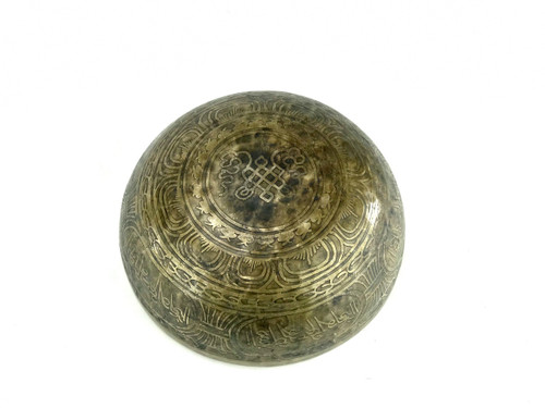 """10.75"""" A#/E Note Etched Himalayan Singing Bowl #a22840618"""