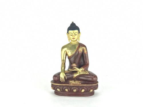 "Gilded Gold/Bronze 8.5"" Shakyamuni Nepalese Buddha Statue #st219"