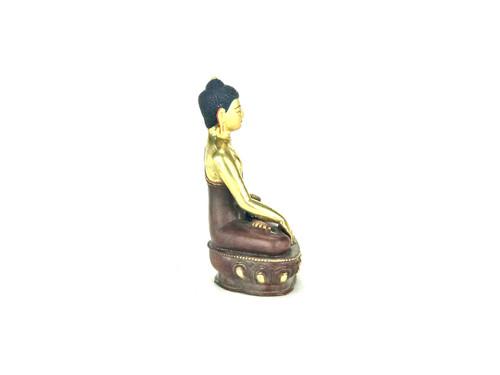 "Gilded Gold/Bronze 8.5"" Shakyamuni Nepalese Buddha Statue #st234"