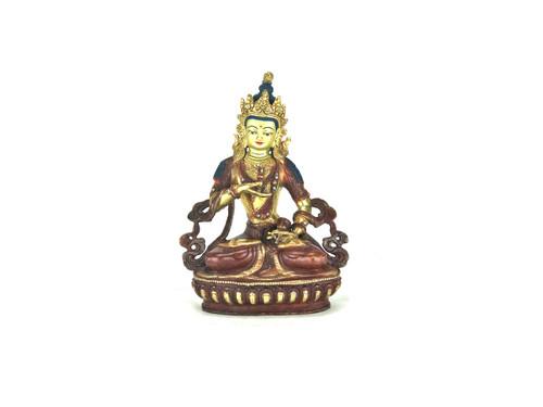 "Gilden Gold/Bronze 8.5"" Vajrasattva Nepalese Buddha Statue #st235"