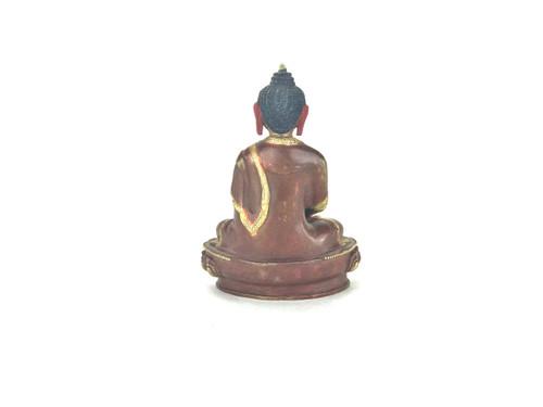 """Gilded Gold/Bronze 8"""" Amitabha Nepalese Buddha Statue #st241"""