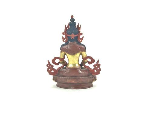 """Gilded Gold/Bronze 9"""" Amitabha Nepalese Buddha Statue #st259"""