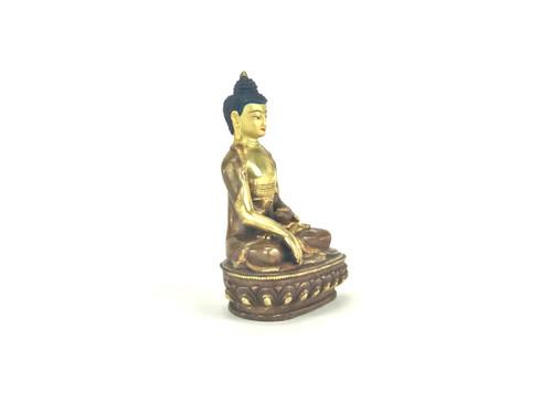 "Gilded Gold/Bronze 8.5"" Shakyamuni Nepalese Buddha Statue #st260"