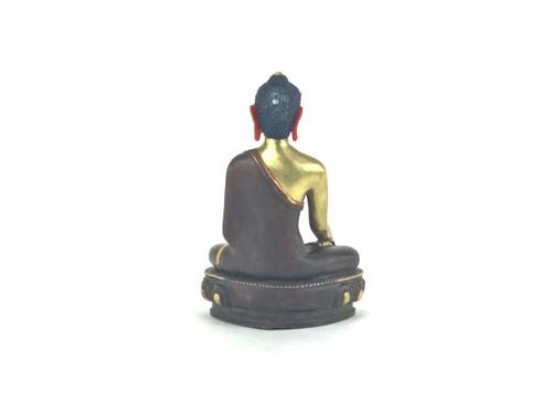 "Gilded Gold/Bronze 8"" Shakyamuni Nepalese Buddha Statue #st261"