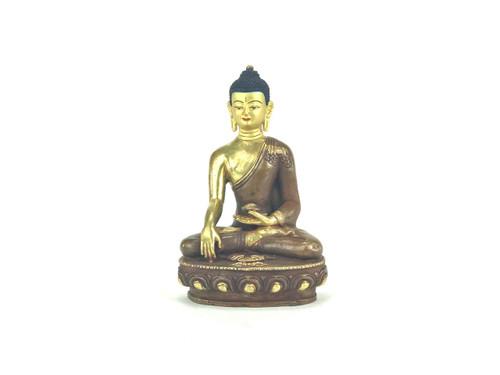 "Gilded Gold/Bronze 8.5"" Shakyamuni Nepalese Buddha Statue #st262"