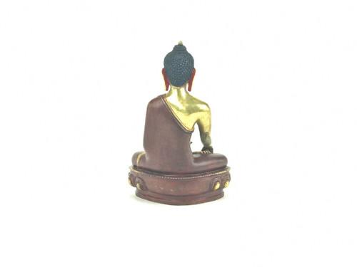 "Gilded Gold/Bronze 8"" Shakyamuni Nepalese Buddha Statue #st264"