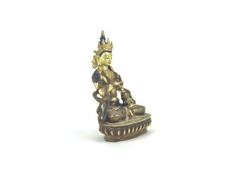"Gold/Bronze 8.5"" Vajrasattva Nepalese Buddha Statue #st271"